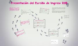 Presentación del Cursillo de Ingreso 2018