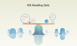 I05 Reading Quiz