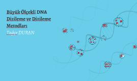 Copy of Büyük Ölçekli DNA Dizileme ve Dizileme  Metodlarına Genel Bi