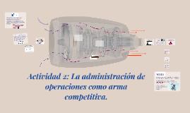 Actividad 2: La adminictración de operaciones como arma comp