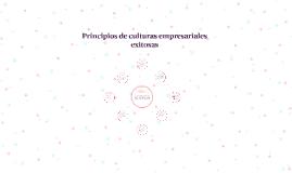 Principios de culturas empresariales exitosas