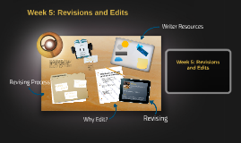 Week 4: Revisions, Edits and Publishing