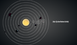 Solar System Review Activity