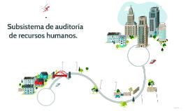Subsistema de auditoría de recursos humanos.