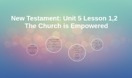 New Testament: Unit 5 Lesson 2