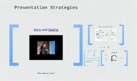 Presentation Strategies