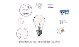 Beginning Web Design for Teachers