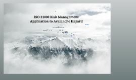 ICAR ISO 31000 RM Avalanche Hazard SuperNatural