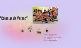 """""""Colonias de Verano"""""""