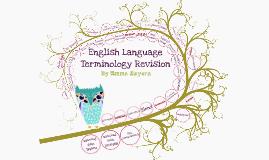English Language Terminology Revison