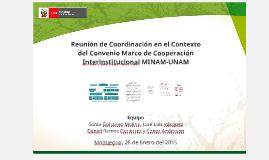 Reunión de Coordinación MINAM-UNAM