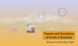Parents and Guardians of Grade 6 Students