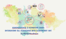 """Manipulatives & Reporting Back: integrating ELD Strategies"