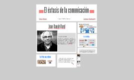 El extasis de la comunicación