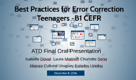 Best Practices for Error Correction (Teenagers - B1 CEFR)