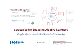 Strategies for Engaging Algebra Learners: Puzzles that Promote Mathematical Reasoning
