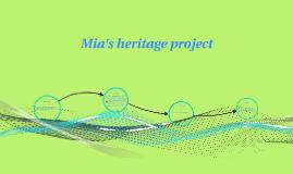 Mia's heritage project