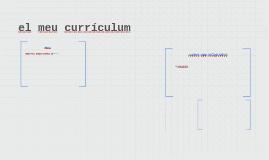 el meu currículum