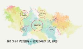 ECE Club meeting - September 15, 2015