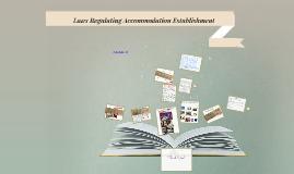 Laws Regulating Accommodation Establishment