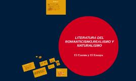 Copy of LITERATURA DEL ROMANTICISMO,REALISMO Y NATURALISMO