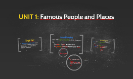 UNIT 1: Famous People and Places
