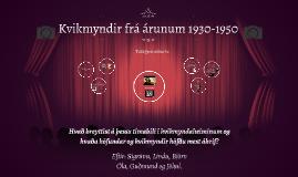 Copy of Kvikmyndir árin 1930-1950