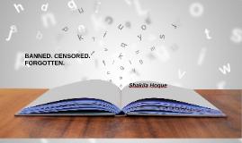 Banned book speech