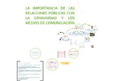 Copy of LA IMPORTANCIA DE LAS RELACIONES PÚBLICAS CON LA COMUNIDAD Y