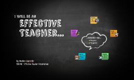 Effective Teacher