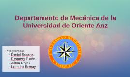 Departamento de Mecánica de la Universidad de Oriente Anz