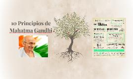 10 Principios de Mahatma Gandhi