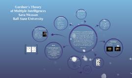 Gardner's Theory of Multiple Intelligence