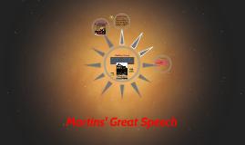Martins' Great Speech