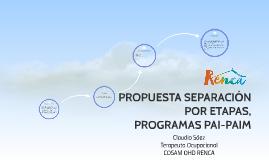 PROPUESTA SEPARACIÓN POR ETAPAS, PROGRAMAS PAI-PAIM