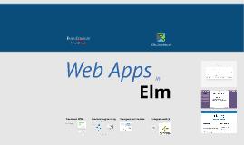 Web Apps in Elm