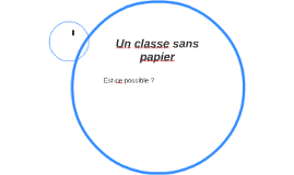 Un classe sans papier
