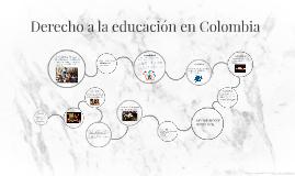 Derecho a la educación en Colombia