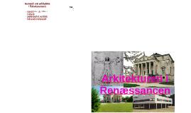 Arkitekturen i Renæssancen