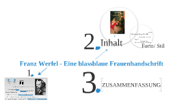 Buchvorstellung: Franz Werfel - Eine blassblaue Frauenhandschrift