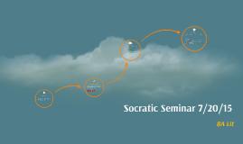 Copy of Socratic Seminar 7/12/15