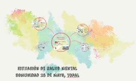 Situaciòn de salud mental cpomunidad 26 de mayo, yopal