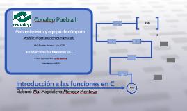 Introducción a las funciones en C
