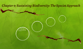 Chapter 9; Sustaining Biodiversity: The Species Approach