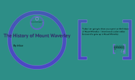 The History of Mount Waverley