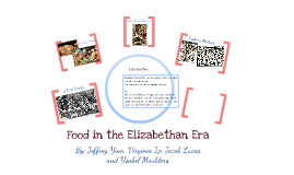 Food in the Elizabethan Era