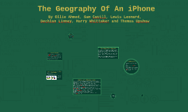 The Geography Of An iPhone