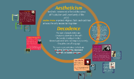 Aestheticism and Decadence