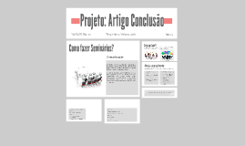 Projeto: Artigo Conclusão