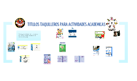 EJEMPLOS DE TITULOS TAQUILLEROS